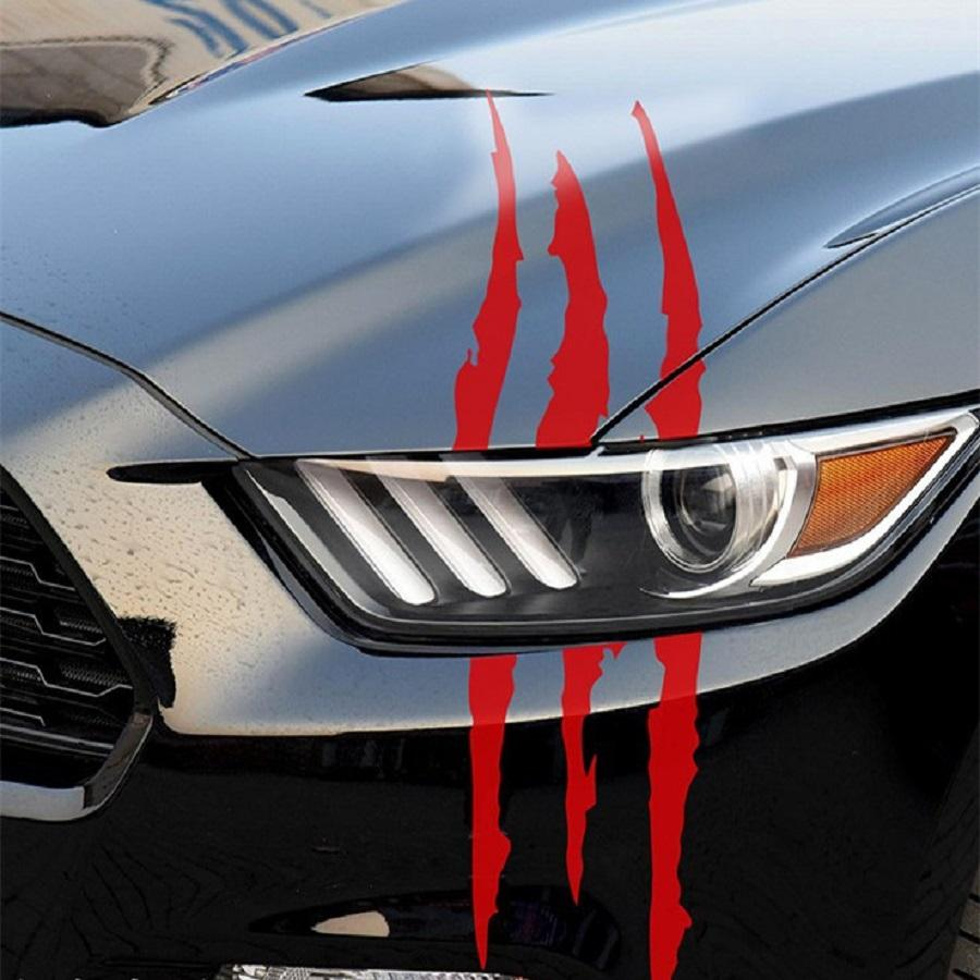 Product details of reflective monster scratch sticker claw marks car styling vinyl decals red