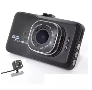 New T636 Dual Lens Dash Camera Vehicle Blackbox Dashboard DVR With G-Sensor