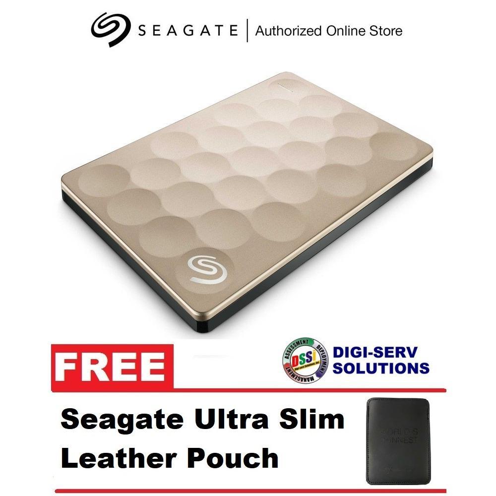 29ecd9bf7ca Seagate Backup Plus ULTRA SLIM 2TB (Gold) Portable External Hard Drive USB  3.0 for PC