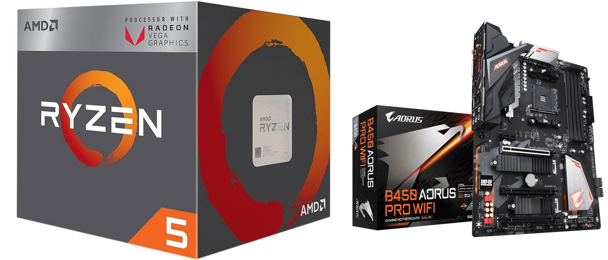 Amd Ryzen 5 2400g Processor With Radeon Rx Vega 11 Graphics Computer Components Parts Computers Tablets Networking Cpus Processors