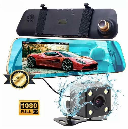 "4.3"" Car Camera Dash Cam Car Recorder FHD 1080P Dual Lens Car Camera Dashcam DVR"