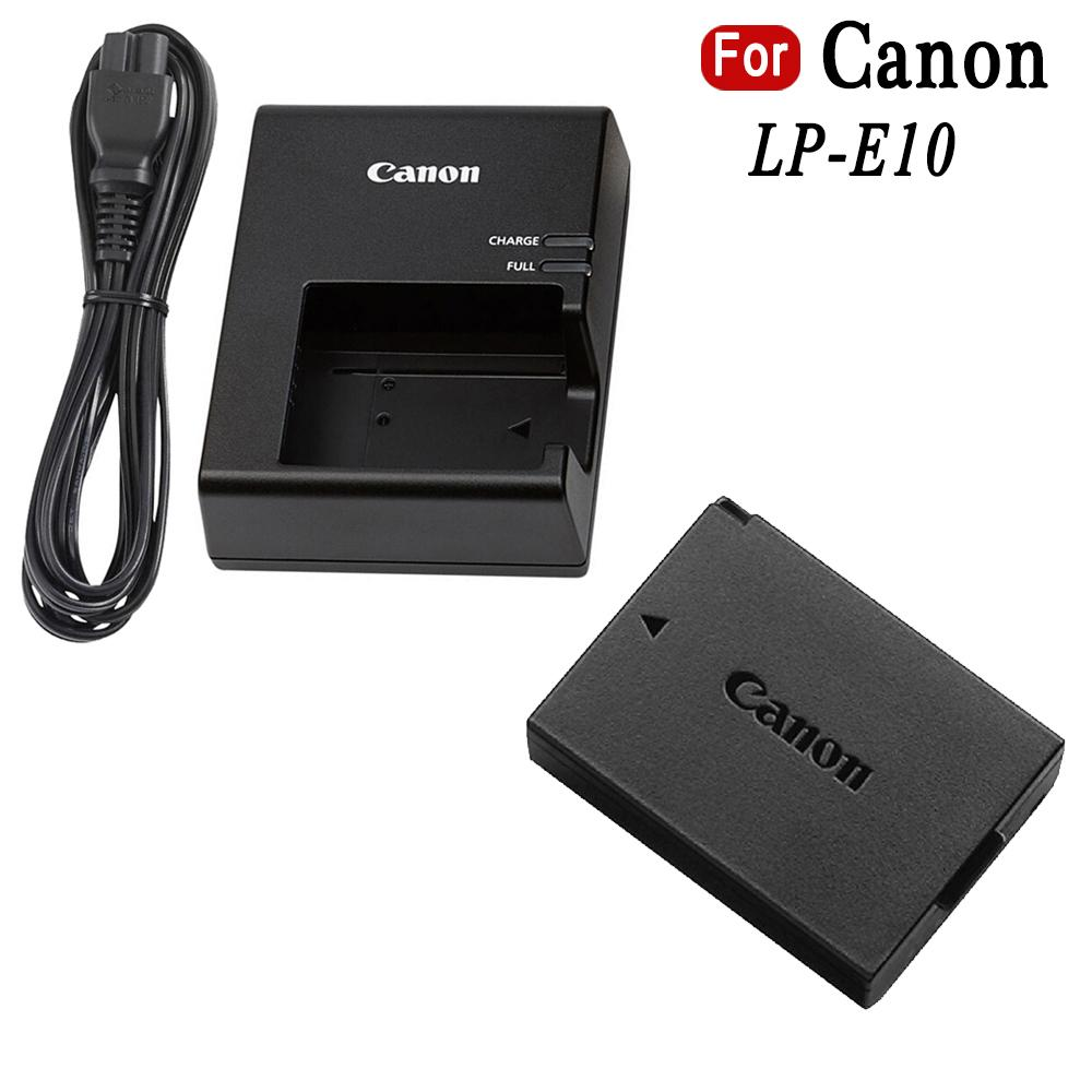 LP-E10 camera Battery and Charger for Canon T3 T5 1100D 1200D Kiss X50