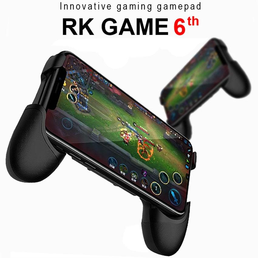 RK GAME 6Th Touch Screen Mobile Gamepad Stylish and Portable With Suction Stick And Pro JoyStick (Black)