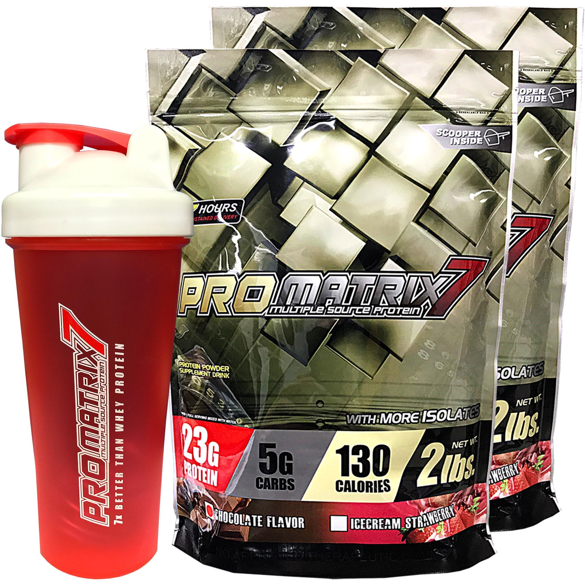 Promatrix7 set of 2pcs 2lbs with Whey Shaker (Chocolate and Strawberry)