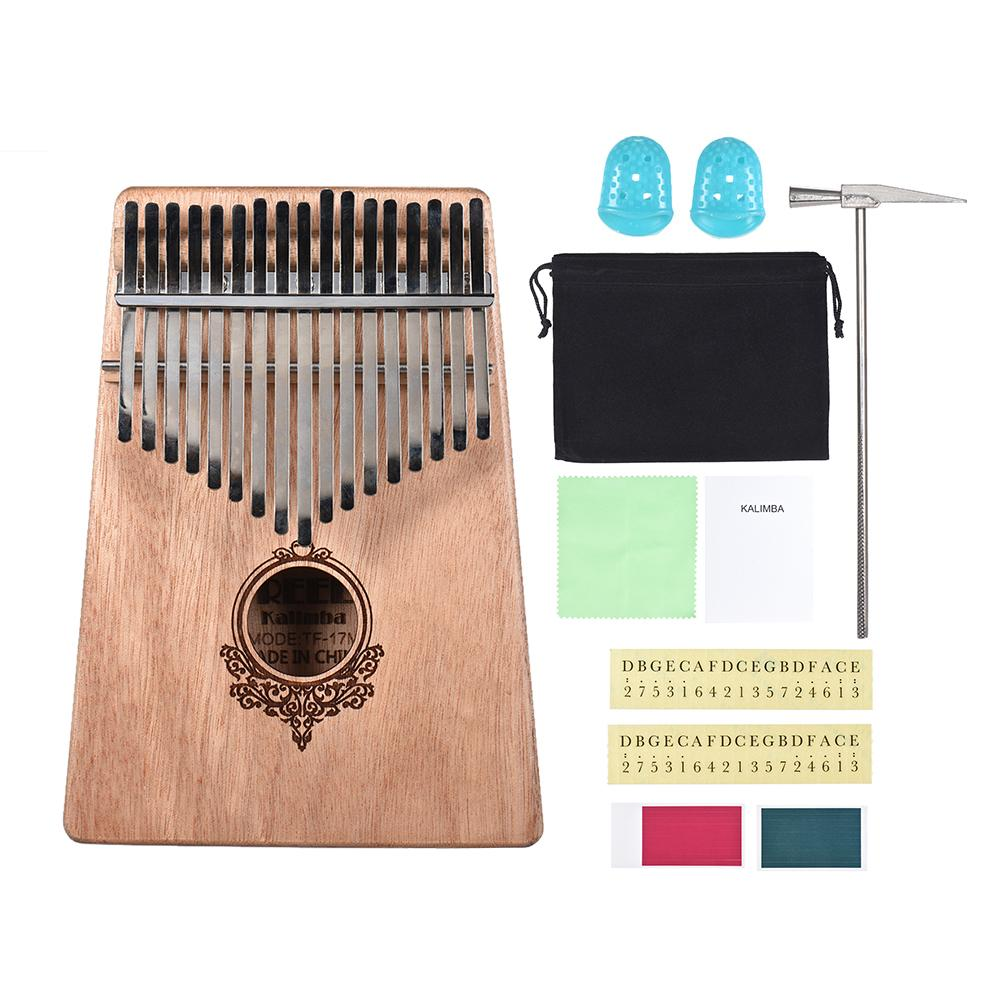 (HOT)17-key Kalimba Portable Thumb Piano with Carry Bag free gifts Local delivery, arrived in three days