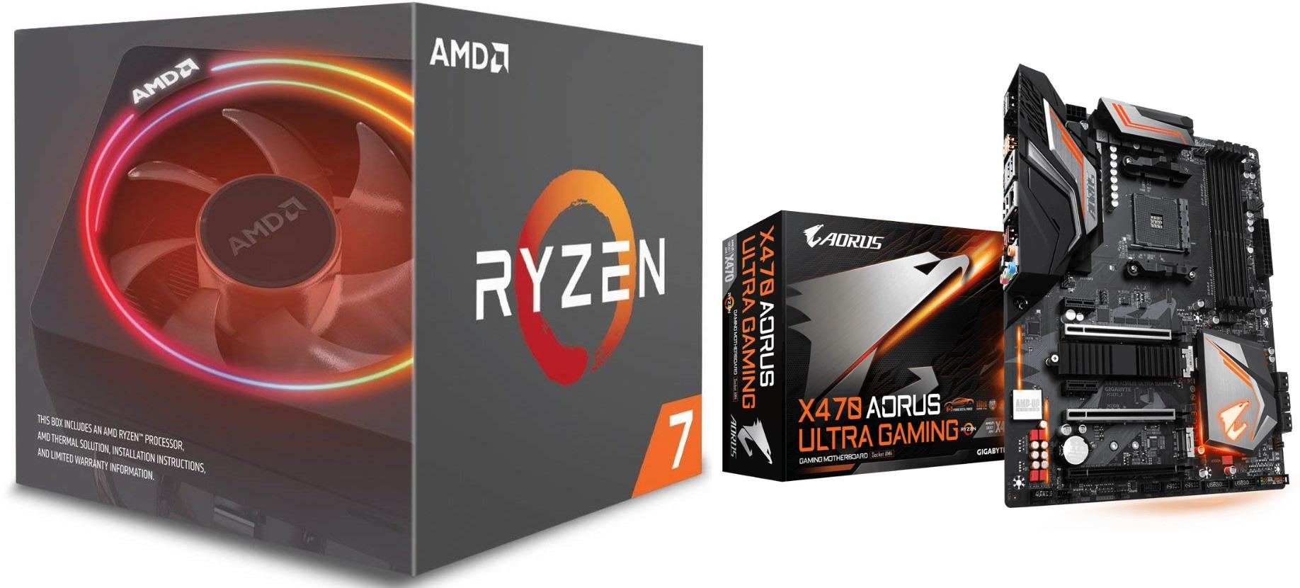 AMD Ryzen 7 2700X 8-Core 3 7 GHz with Wraith Prism LED Cooler Desktop  Processor BUNDLE WITH GIGABYTE X470 AORUS ULTRA GAMING ATX AMD Motherboard