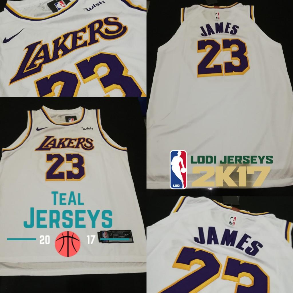 online store 77463 7e770 LeBron James L.A Lakers White Jersey