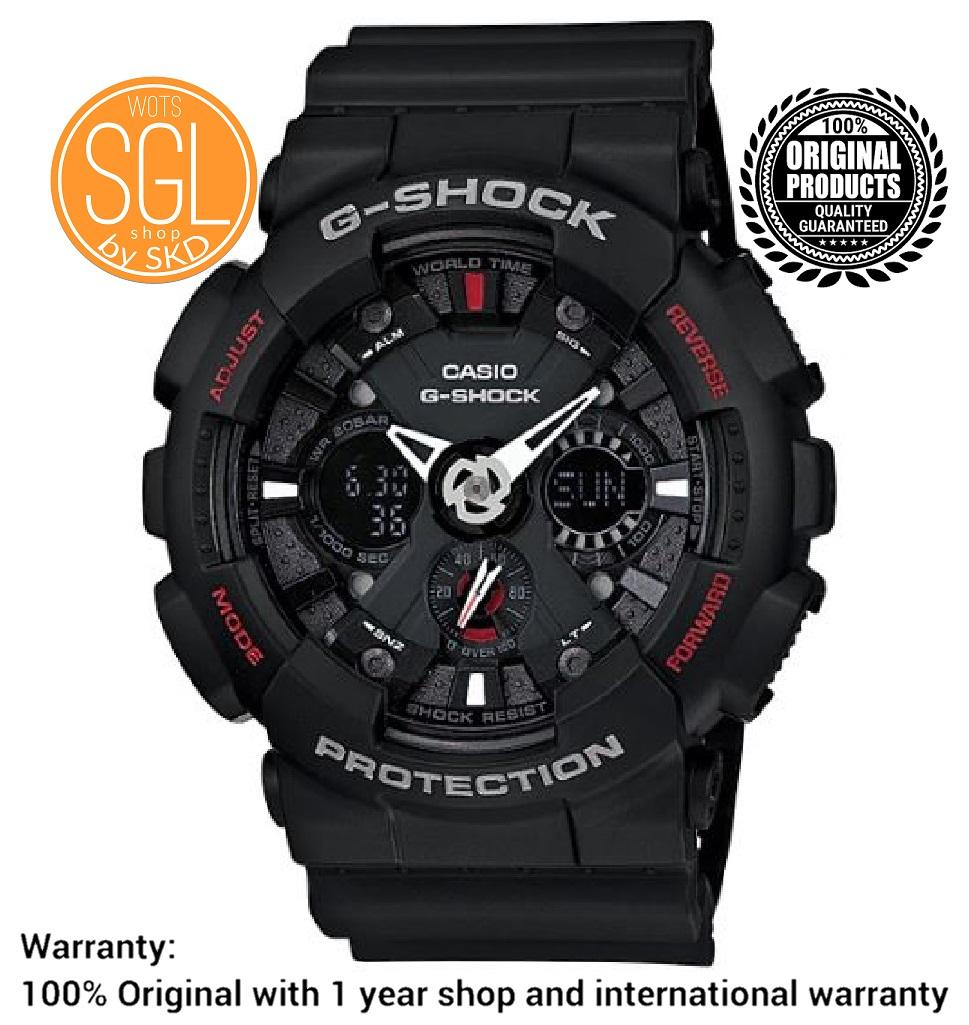 Casio G-Shock Men's Standard Analog-Digital BLACK Watch GA-120-1A SGL WOTS SHOP