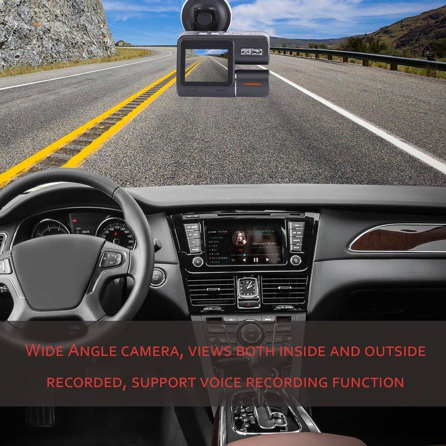 OSMAN HD 1080P Dual-lens Vehicle DVR Wide-angle Perspective Car Driving Recorder
