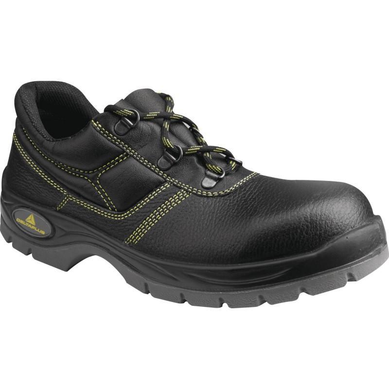 Delta Plus JET2 S1 SRC Mens Work Shoes Black Leather Steel Toe Cap Mid Sole New