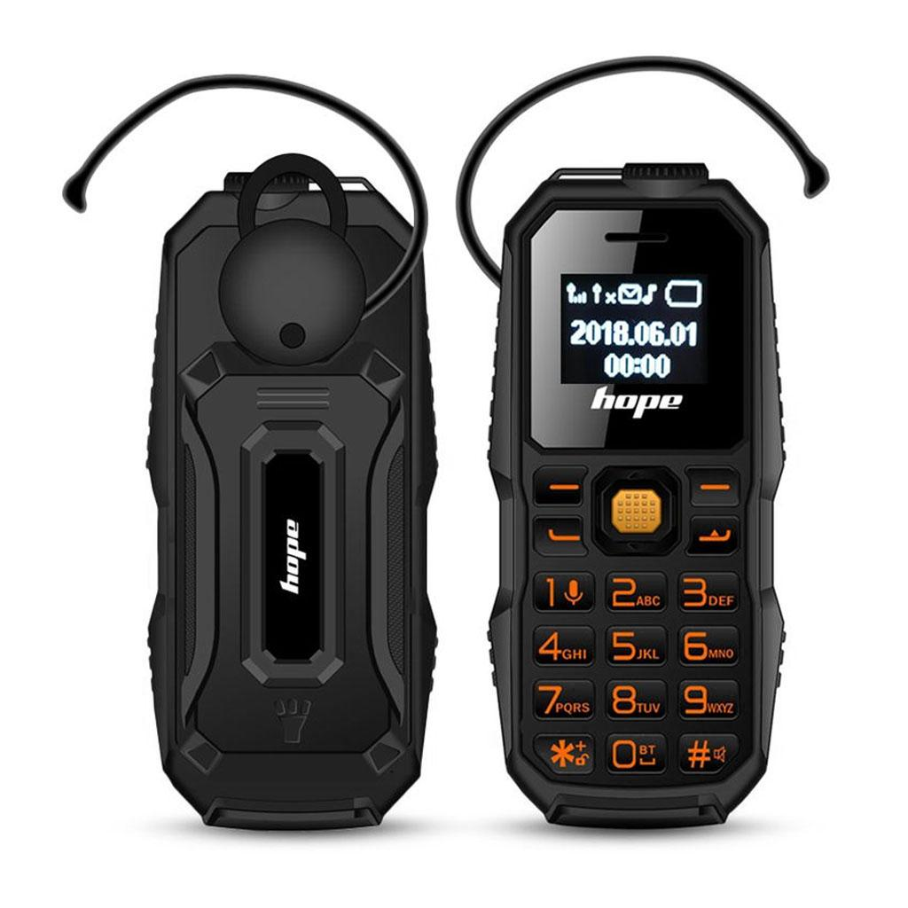 M60 3 in 1 Mini GSM Mobile Phone Bluetooth Dialer Headset with LED Flashlight (Black)