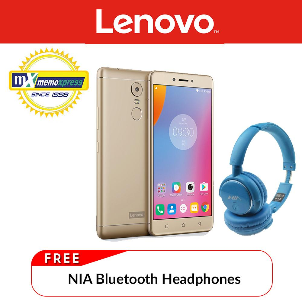 Lenovo K6 Note (Gold) with Free NIA Bluetooth Headphone - 9990