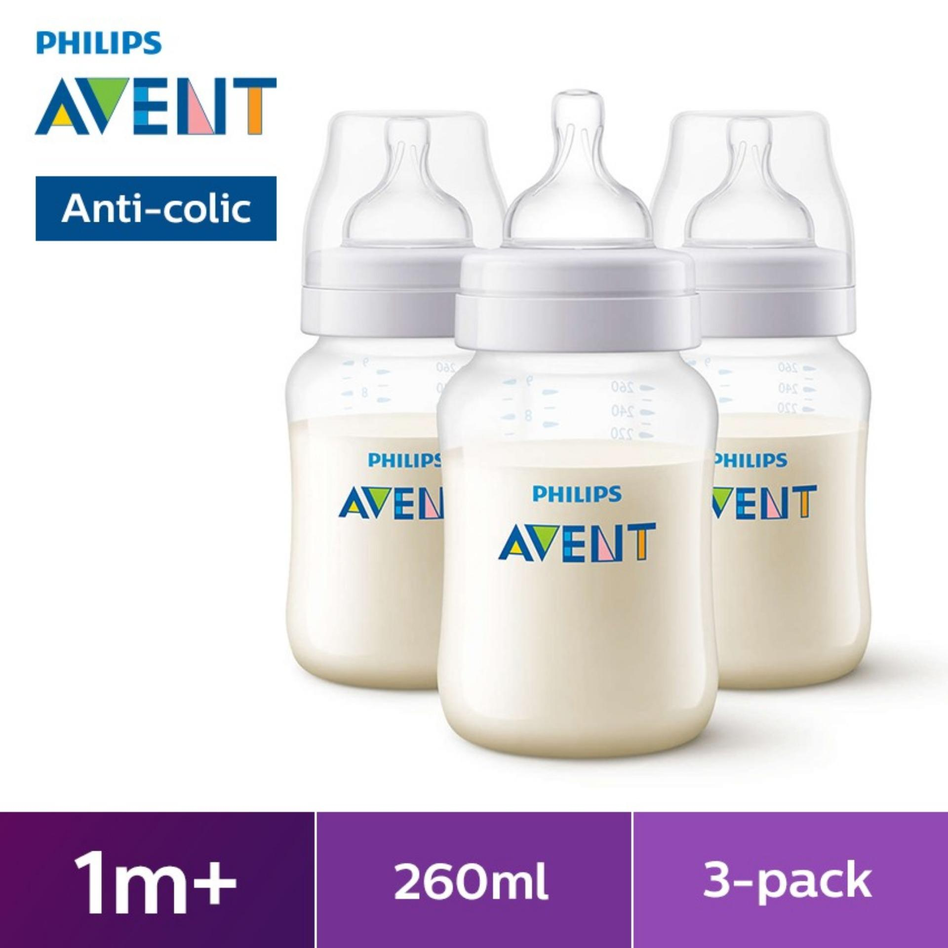 PHILIPS AVENT 9OZ BPA-Free (PP) Bottle 3 PACK
