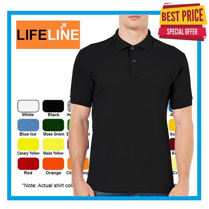 Lifeline Honeycomb Polo Shirt For Men Black