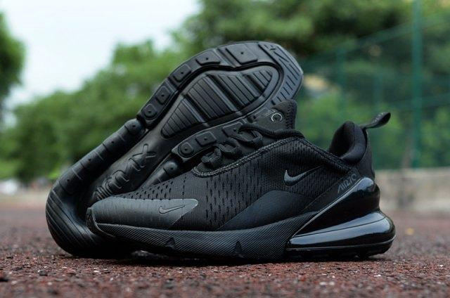 Original Nike_ Air Max_ 270 Triple Black Trainer Womens Running Shoes By Bjstgalt.