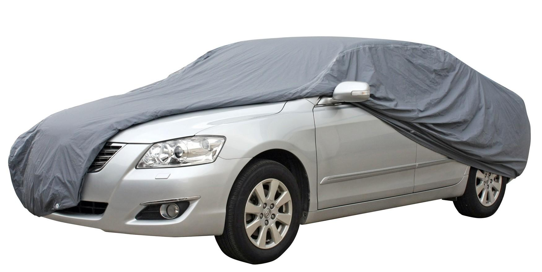Waterproof Lightweight Nylon Car Cover for Automobile L-Size image on snachetto.com