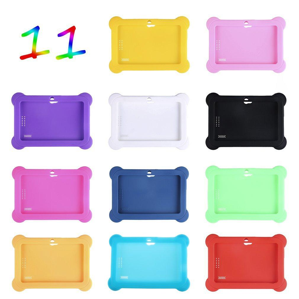 Ultra Lightweight Soft Silicone Anti-Dust Cover Solid Color Protective Case Cover Suitable for 7 Inch Q88 Android Tablets