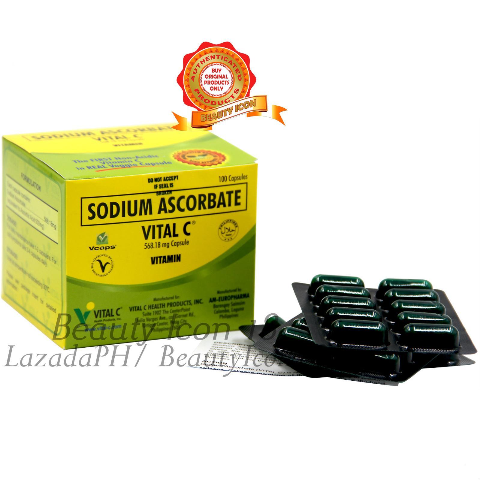 Vital C Sodium Ascorbate 568 18mg Capsule By 100s