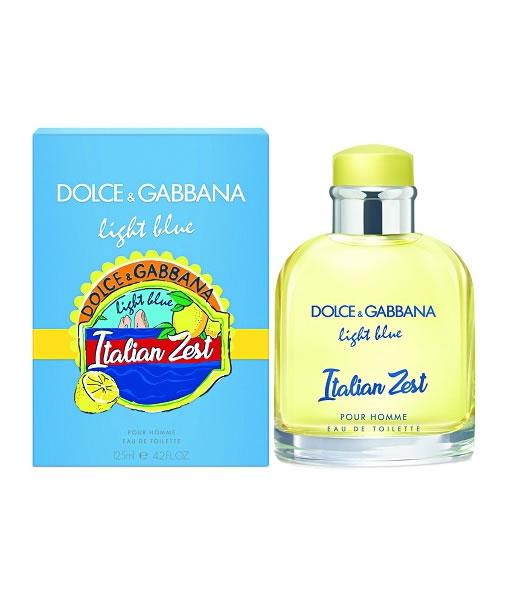 Italian Zest Light Blue by Dolce and Gabbana for Men Pour Homme Edt 125ml