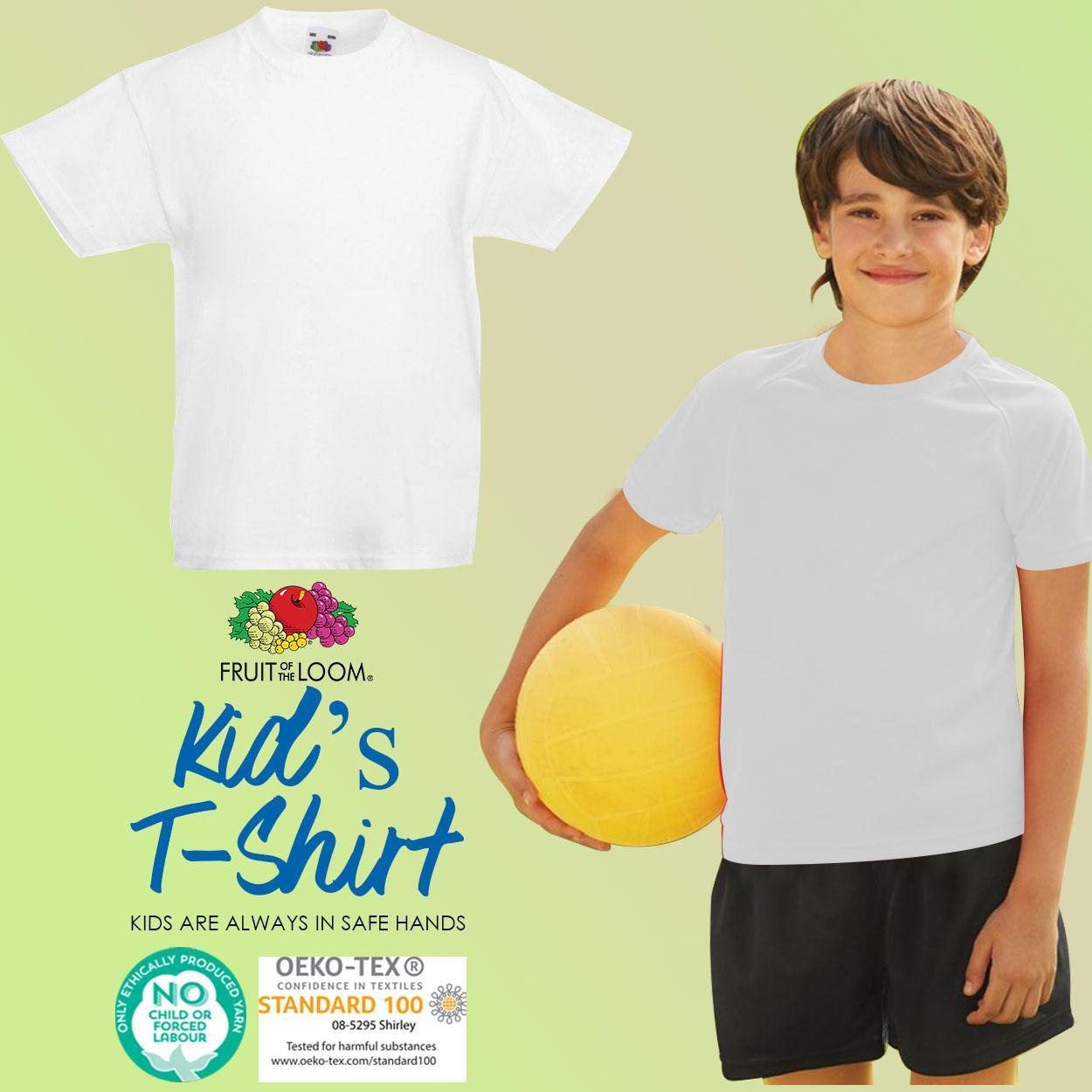 Fruit of the Loom Kids Boys And Girls Original T-Shirt