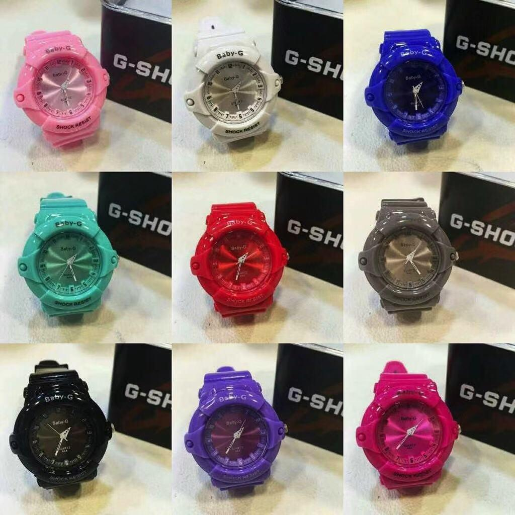 Cod casio 9colors New Fashion Baby G Watch For Kids Boy/Girl