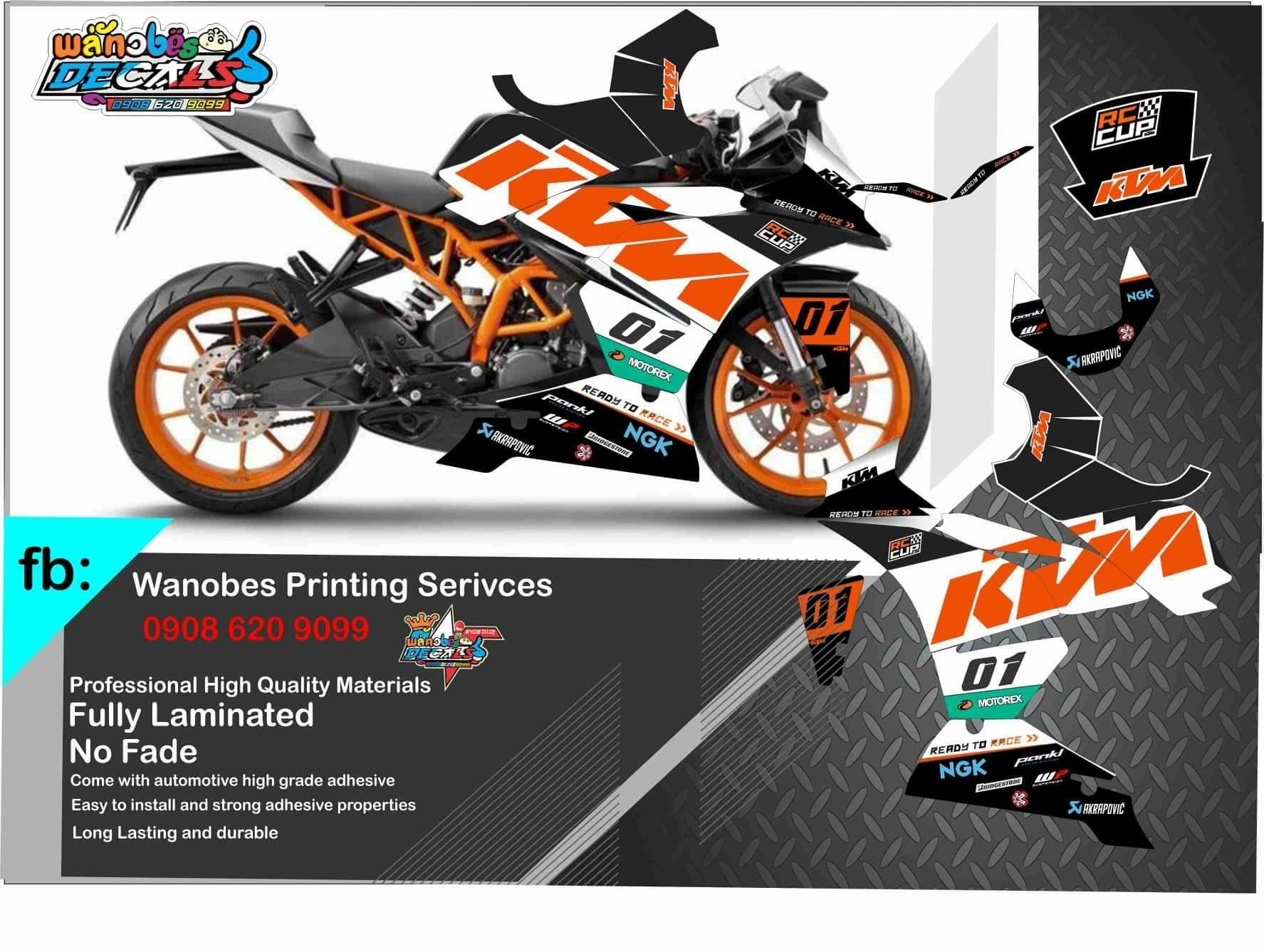 Ktm Rc 200 Decals Buy Sell Online Decals Emblems With Cheap Price Lazada Ph