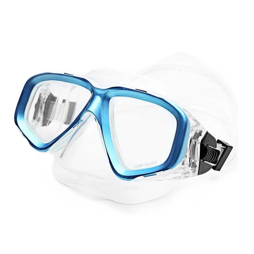 Penjualan Terlaris AM-408 Lapisan Ganda Tahan Air Transparan Orang Dewasa Silikon Kacamata Menyelam