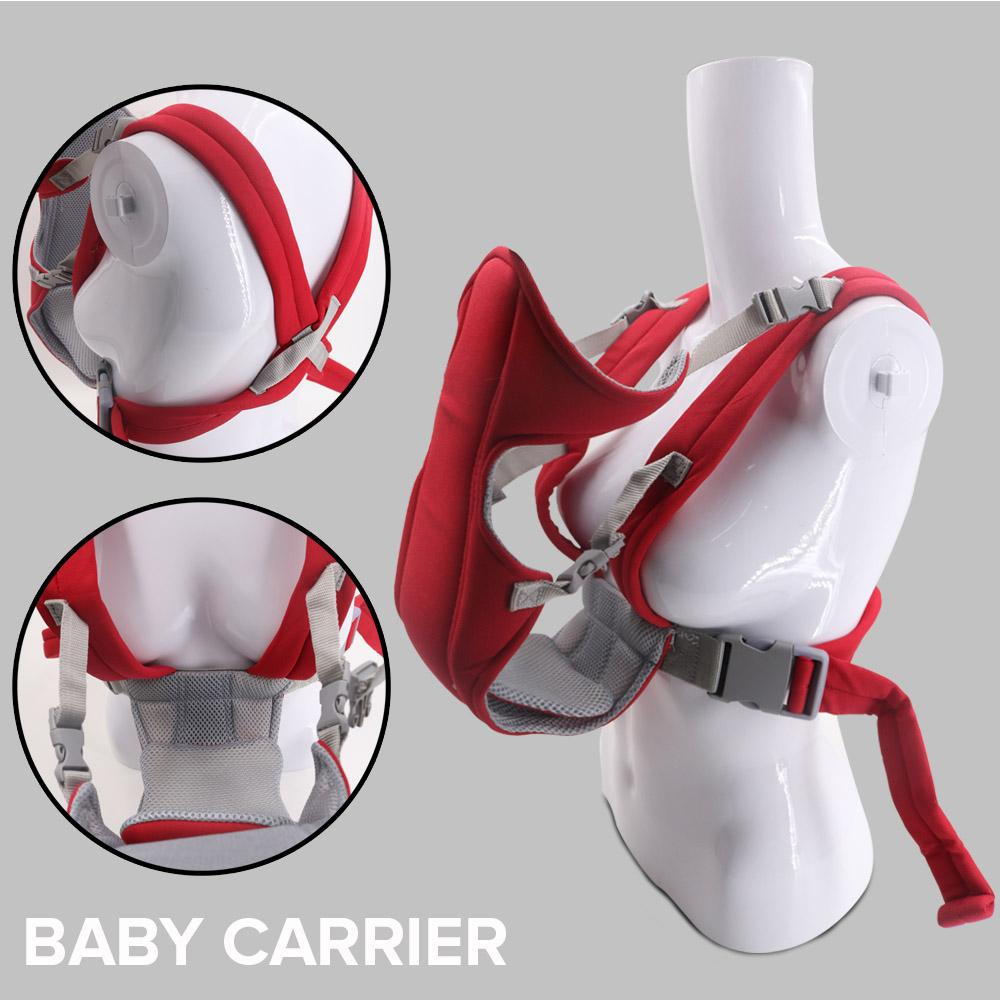 Soft Baby Carrier Give Baby Care Breathable & Adjustable Baby Wrap EN71-2 (red)