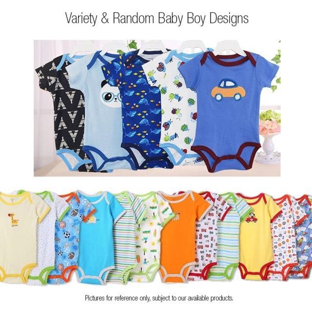 06b12989a9e2c Product details of 5 pcs Pack Carters Bodysuit 100% Cotton Baby Boy Onesie  Romper Set (Random Design)