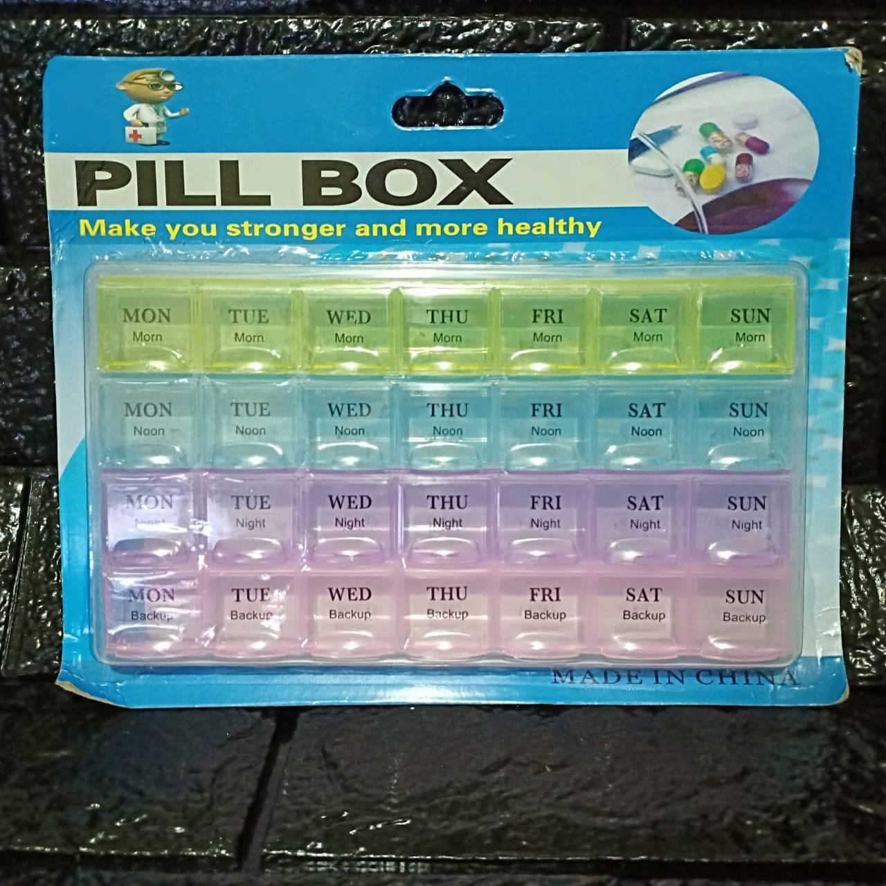 Colorful 4 Layer Pill Box Medicine Organizer