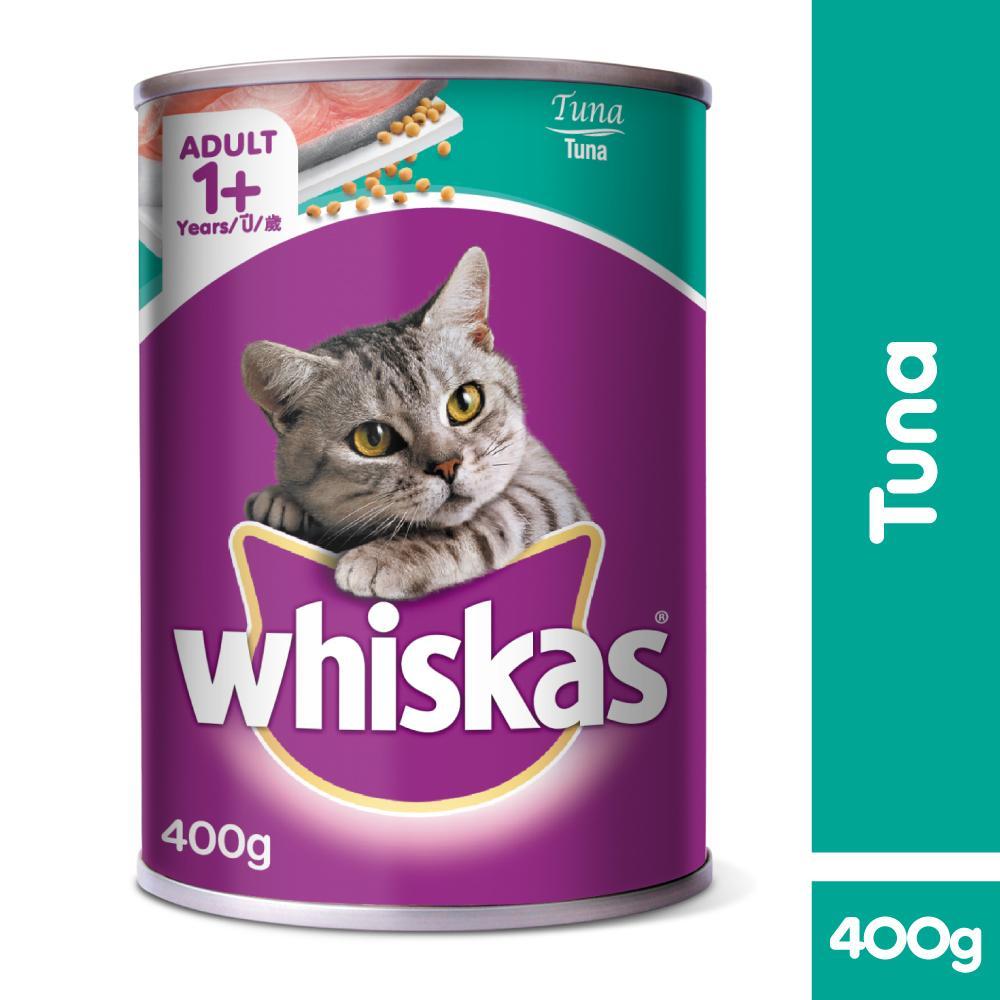 Whiskas Adult Tuna Wet Can Cat Food Set Of 6 400g Lazada Ph