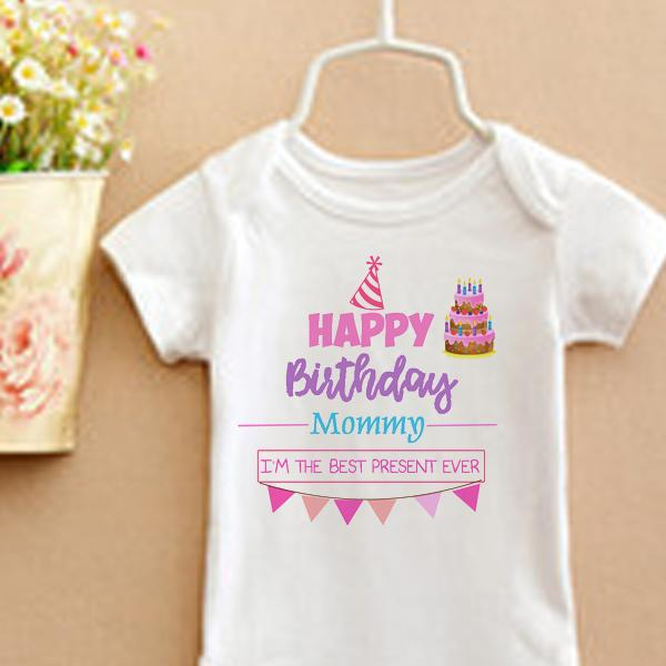 Product Details Of Happy Birthday Mommy Daddy Onesie