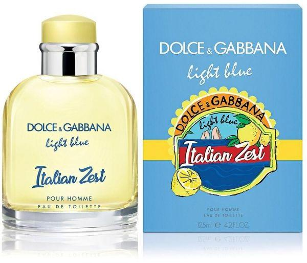 Dolce & Gabbana D&G Light Blue Italian Zest EDT Spray for Men 125ml Authentic Tester