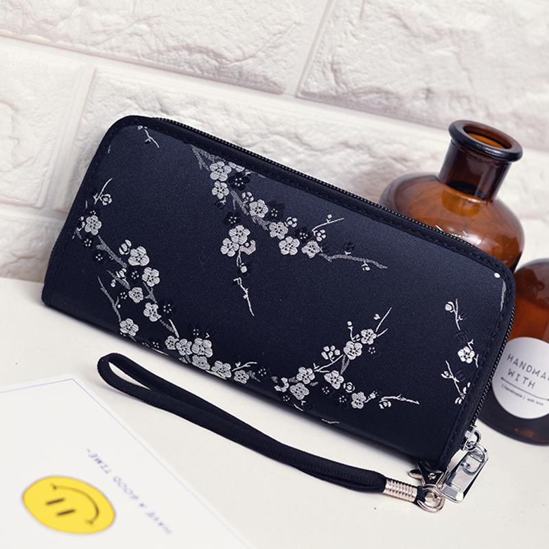 Korean Fashion Zipper Embroidery Multifunction Wallet LY-0968