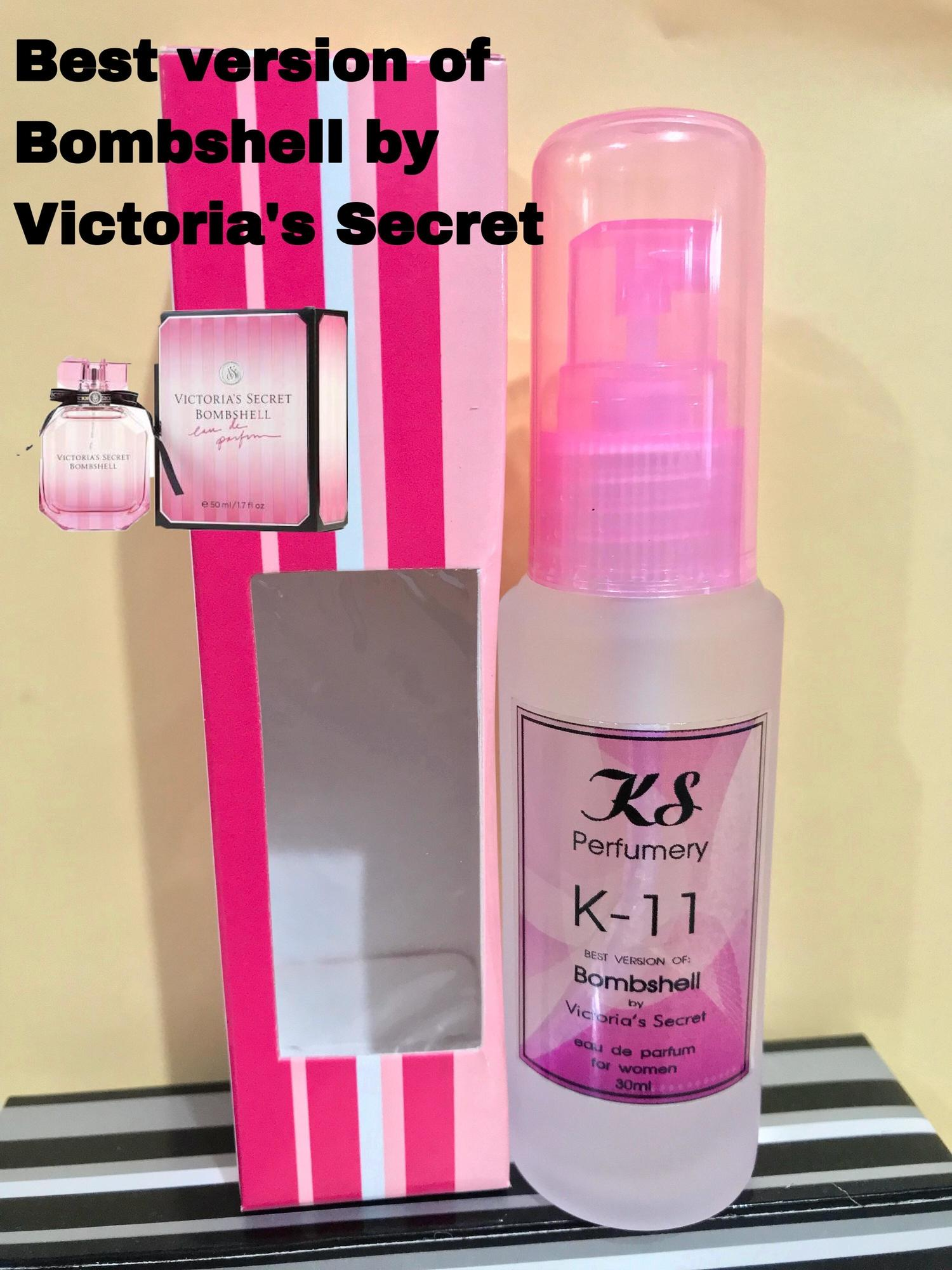 KS Perfumery Code: K-11 Best version of Bombshell by Victoria's Secret 15% oil based 30ml comes with Window box Stripes