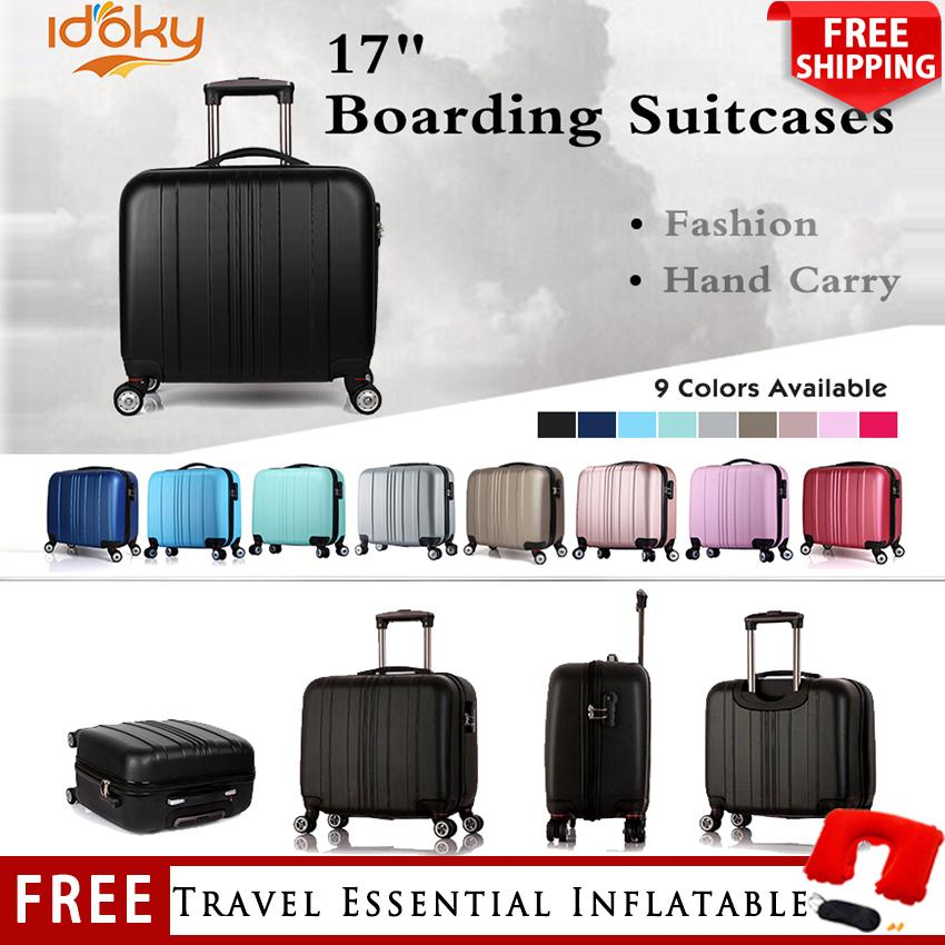 aa02ff0d1763 【DJX Series】17 Inch Boarding Bag 4 Wheels 360 Rotation Waterproof Suitcase  Hard Case Luggage Hand Carry Suitcase