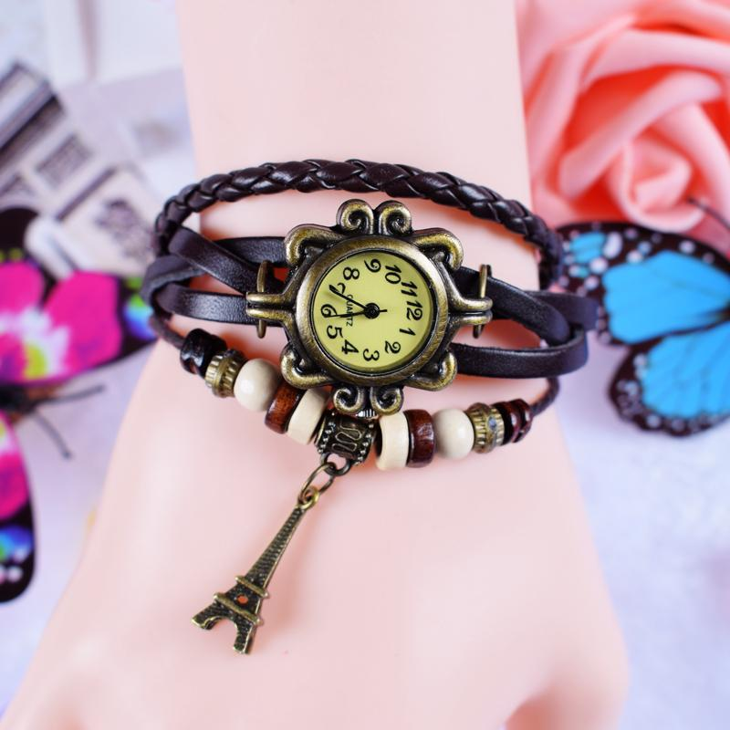 Vintage women Bracelet watch watches Students Korean Style Sweet Fashion Winding Simple Couple watch watches Men And Women Student's watch watches