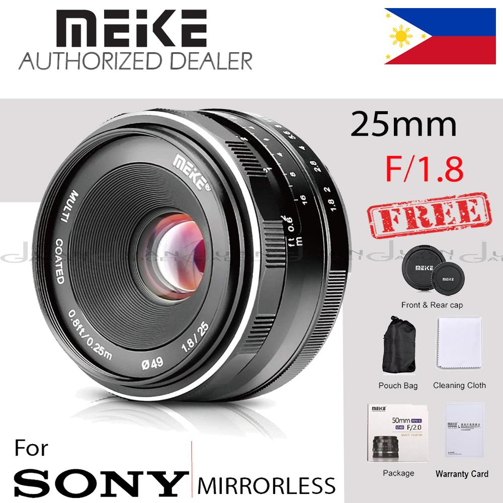 Meike MK 25mm f/1.8 Large Aperture Wide Angle Lens Manual Focus Lens for Sony Mirrorless Emount Cameras