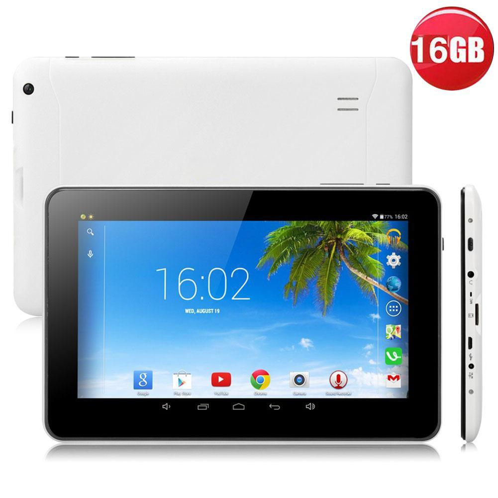 "bokeda store N98 9"" Inch Android 4.4 Tablet PC Allwinner A33 Quad Core 1GB+16GB EU Plug White"