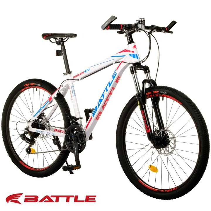 battle 419d 26 shimano 21 speed alloy mountain bike. Black Bedroom Furniture Sets. Home Design Ideas