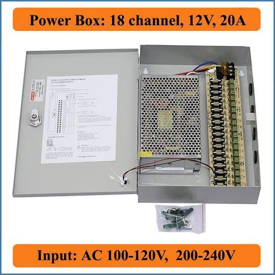CCTV POWER BOX 12 Volts 20 Amperes