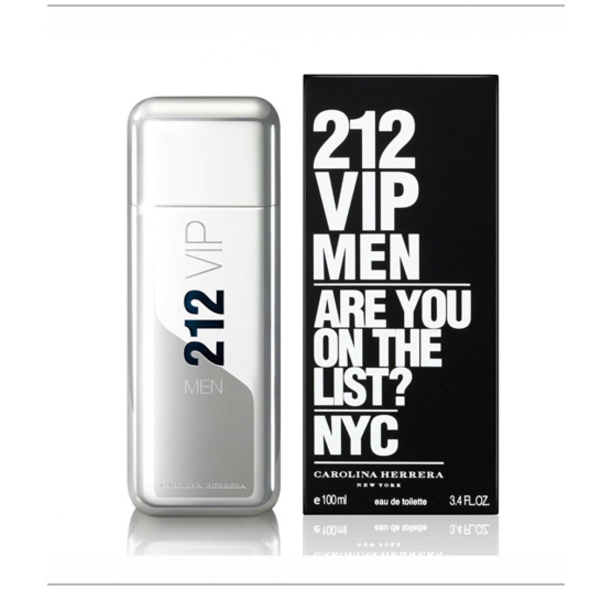 212 Vip Men Are You on The List? Nyc by Carolina Herrera Edt 100ml