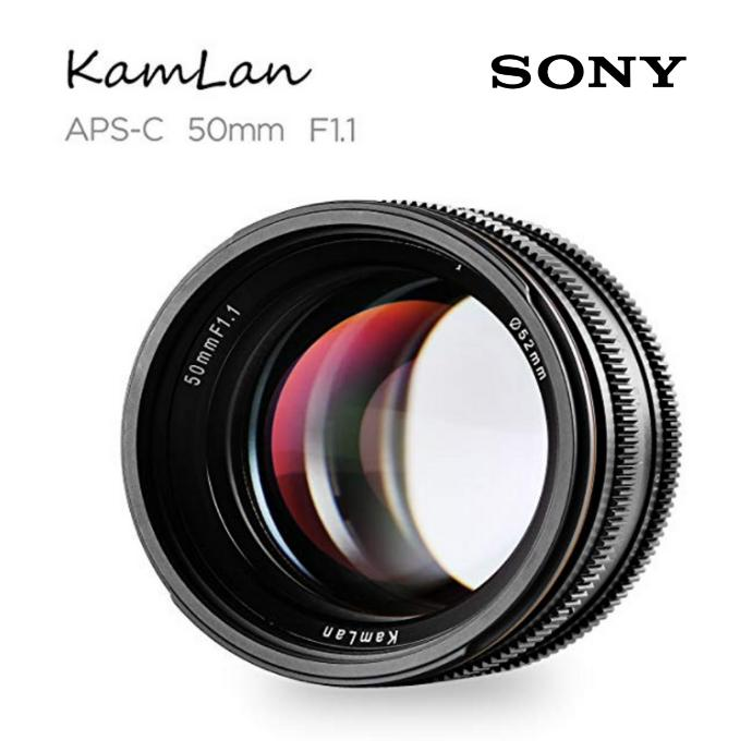 Kamlan Sony 50mm F1.1 APS-C Large Aperture Manual Focus Lens, Standard Prime Lens for Sony E-Mount Mirrorless Camera, Sony NEX3, 3N, 5, 5T, 5R, 6 and Alpha a7, a7R,a7S, A5000, A5100, A6000, A6100 A6300 (Lee Photo)