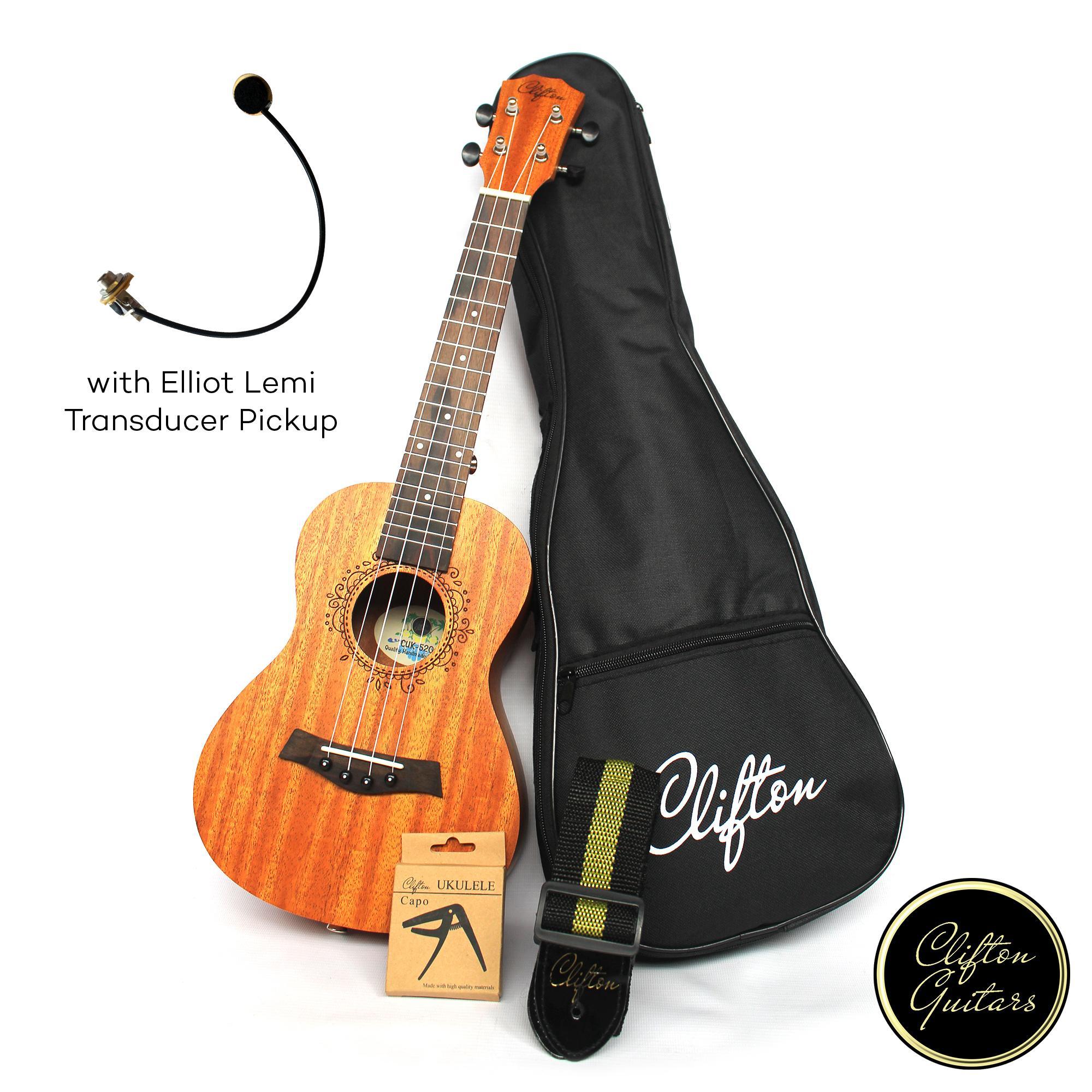 f5590b80c3 Clifton CUK-520e Concert Ukulele w  Elliot Lemi and FREE Accesory ...