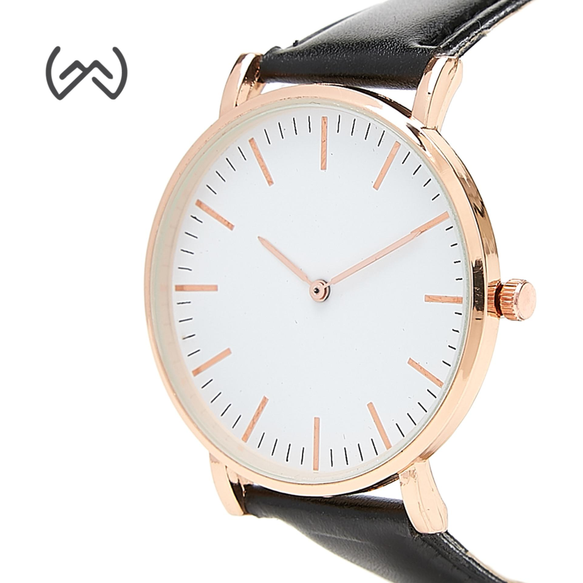 WM Korean Minimalist Leather Strap Women's Quartz Watch
