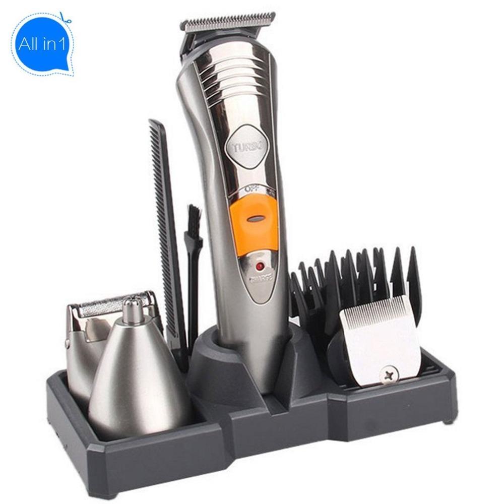 All-In-1 Shaving Machine Hair Trimmer Beard Trimer For Men Rechargeable Face Hair Removal Groomer Body Shaver Stubble Trimmer