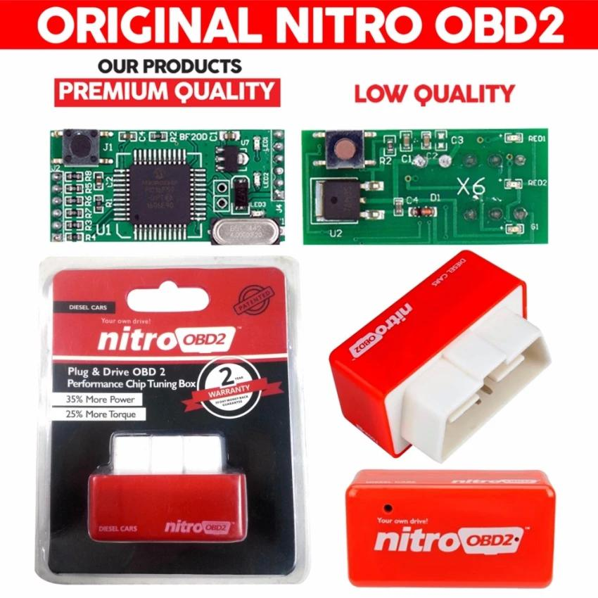 [100% Original] Nitro OBD2 For Diesel Cars Chip Performance Tuning Plug & Play Auto ECU Remap (Red)[Diesel Cars]