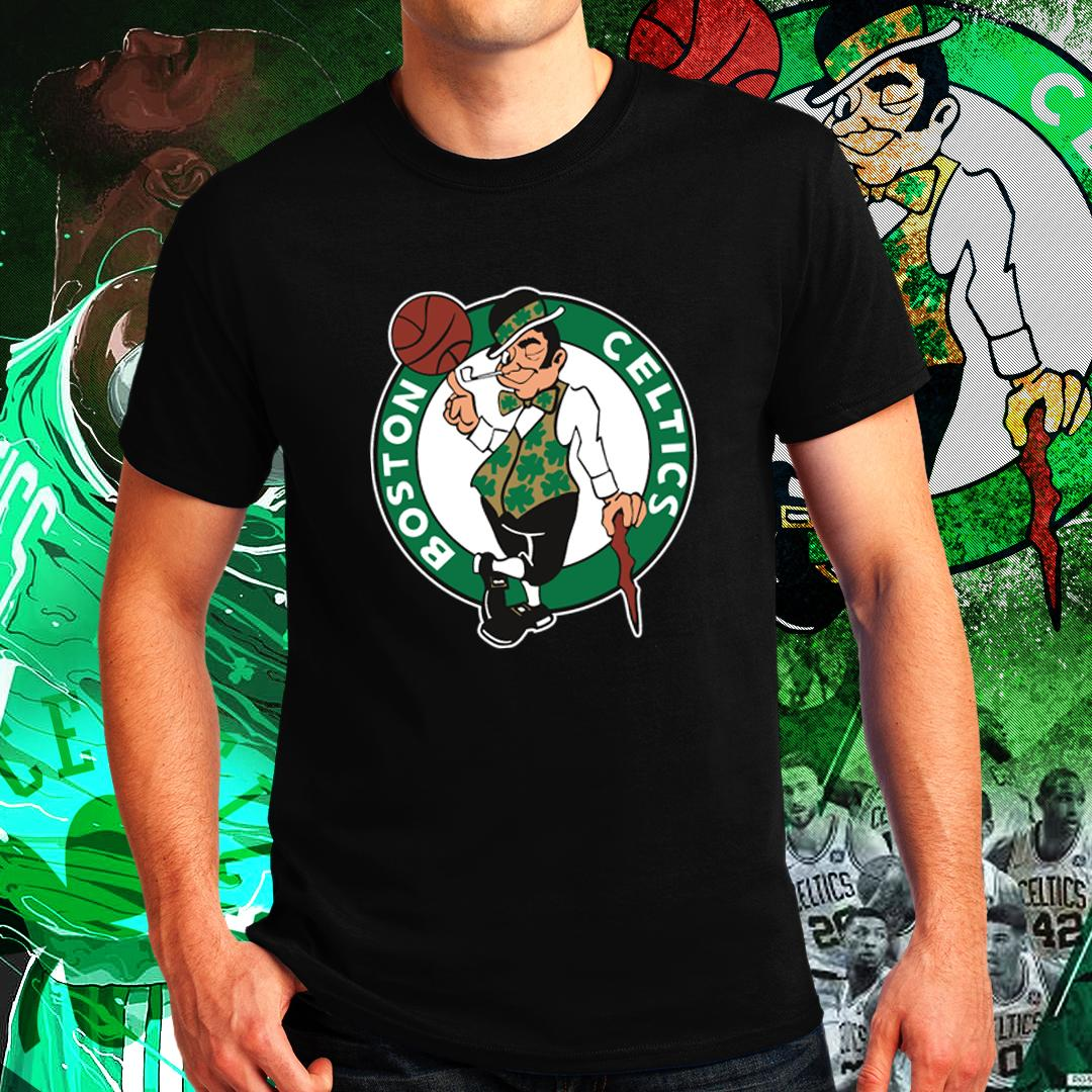 buy popular 04f05 c19ac Boston Celtics Kyrie Irving Uncle Drew NBA Basketball Sports Team Tshirt  for Men