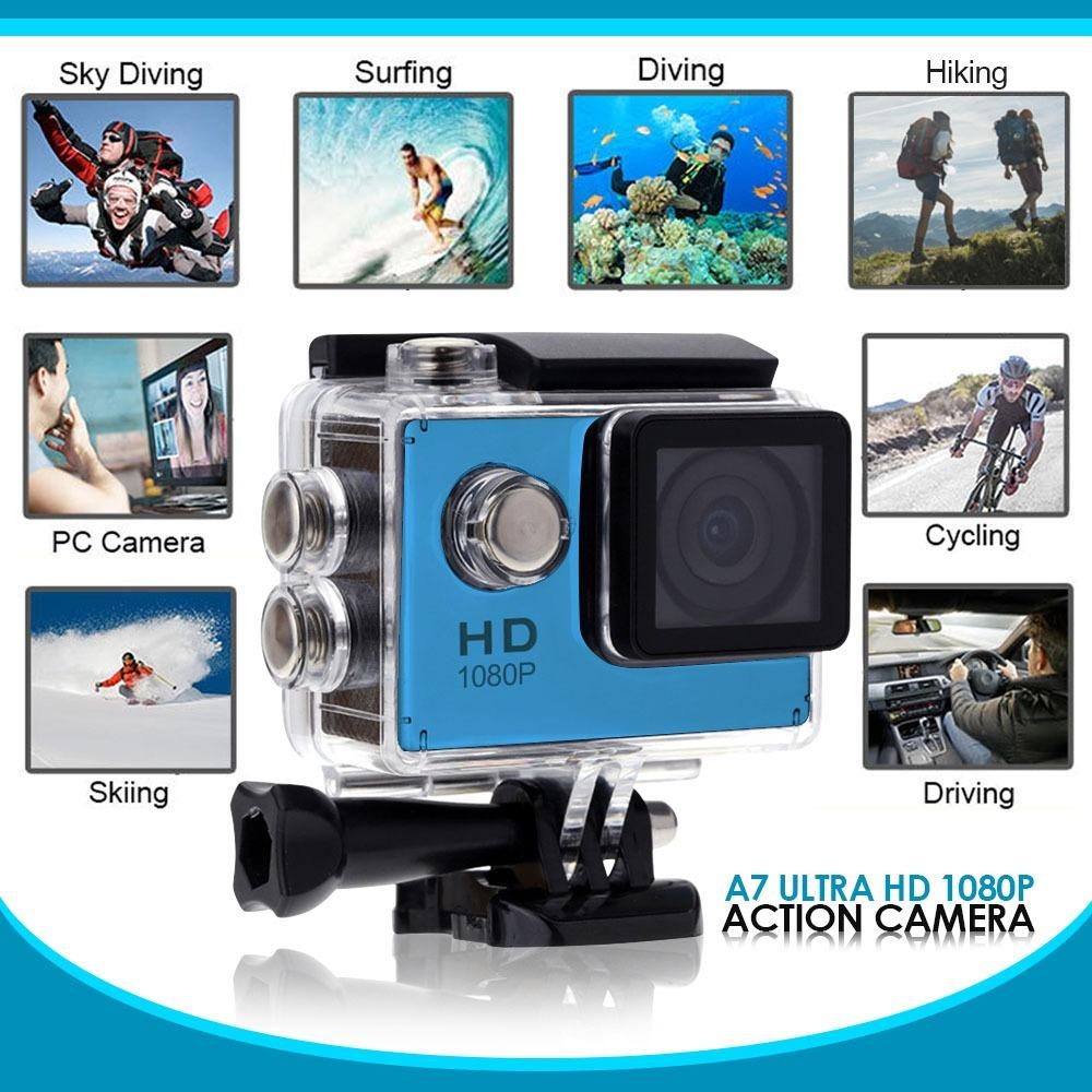 A7 Ultra HD 1080P Waterproof Sports Action Camera