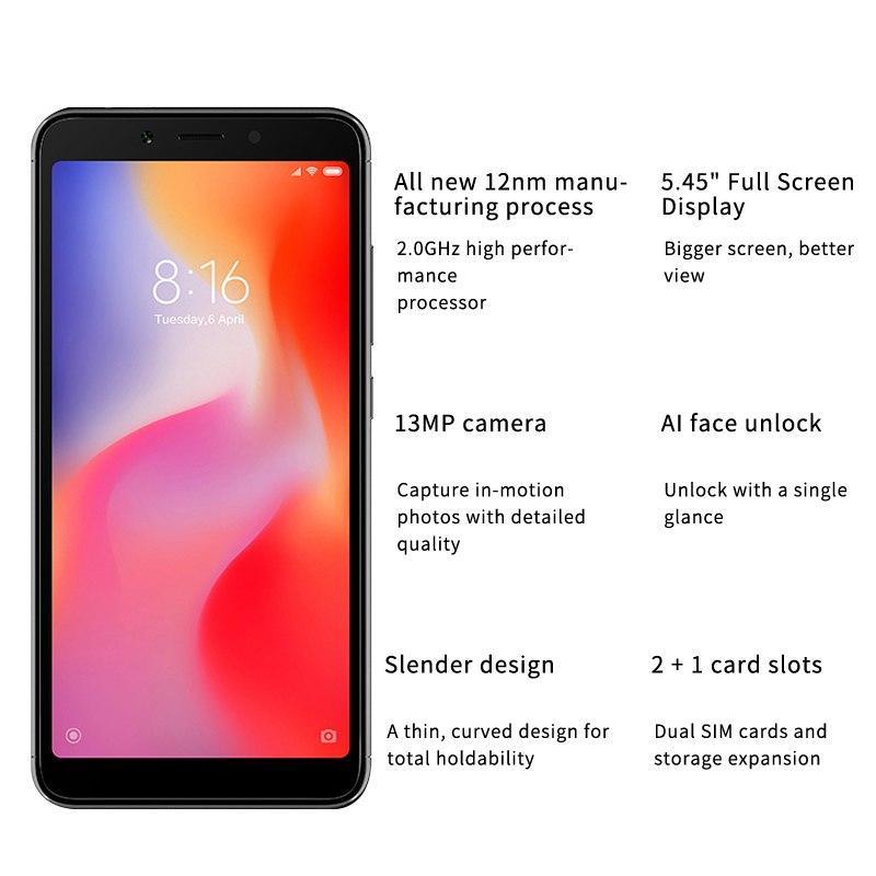Xiaomi Redmi 6 3GB RAM 32GB ROM Chinese Version
